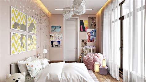 apartment interior rendering style  practicality