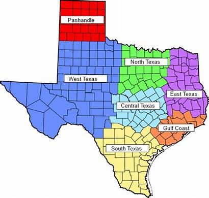 Texas Regions Region Map East North West