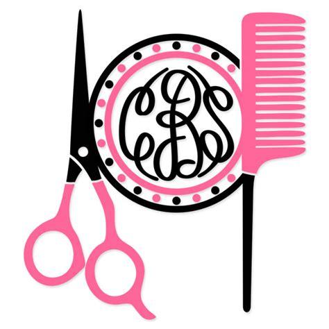 hairdresser heart monogram cuttable frame