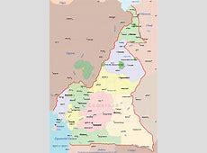 Cameroon Political Map • Mapsofnet