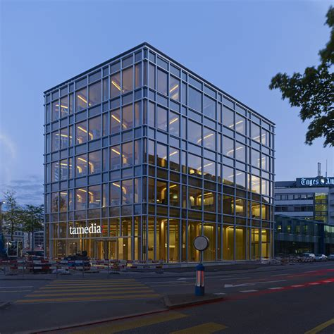 shigeru ban tamedia office building in zurich completed
