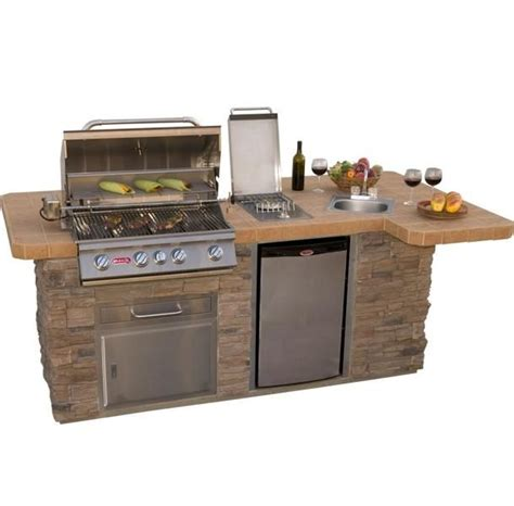 outdoor kitchen island with sink bull outdoor products bbq island w angus grill sink