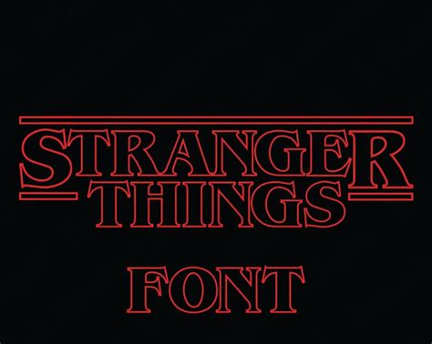 Studio files are for use with the silhouette studio® software program. Stranger Things Font SVG Collection - Stranger Things ...