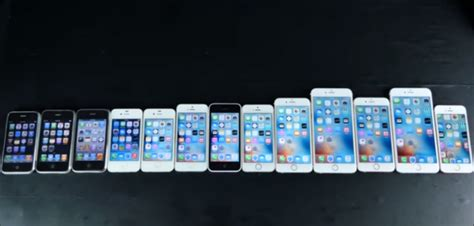 all iphones all iphones right from iphone 2g to iphone se compared