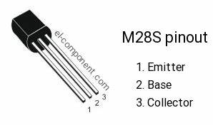M28s Npn Transistor Complementary Pnp  Replacement  Pinout