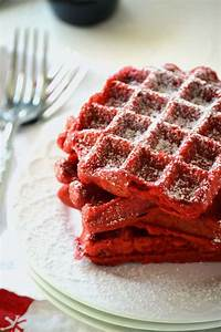 Red Velvet Waffles - Food Fanatic