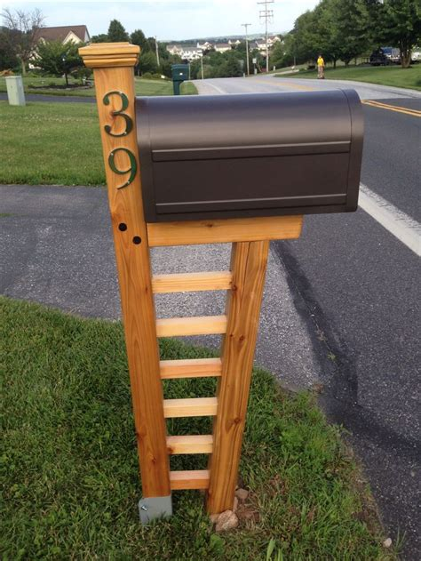 cedar mailbox post plans woodworking projects plans