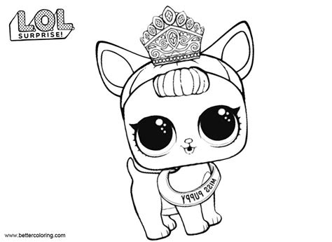 lol pets coloring pages  puppy  printable