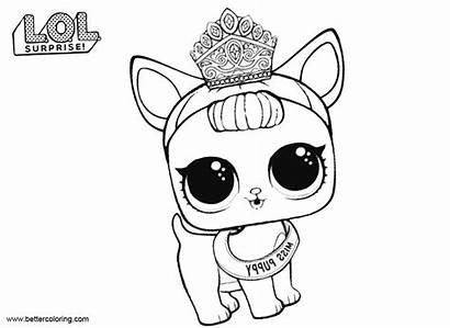 Lol Pets Coloring Pages Puppy Miss Printable