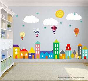 city wall decals wall decals nursery baby wall decal kids With kids wall decals