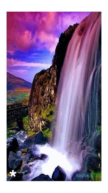 Waterfall Nature Google Deep Gifs Paysage Water