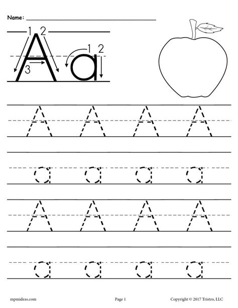 26 Alphabet Letter Tracing Worksheets  Uppercase And