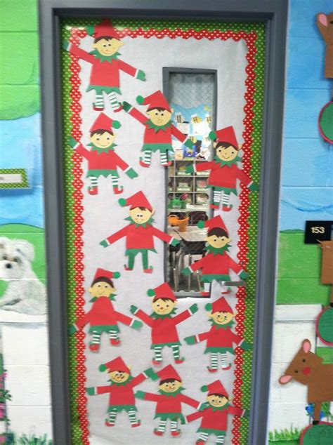 christmas door decoration for six graders in grade craft freebie classroom creations to recreate elves