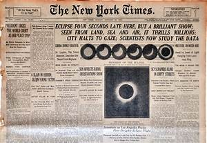 20th century — Total solar eclipse of Aug 21, 2017