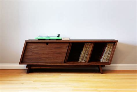 diy record player cabinet learn to build your own sleek record player console