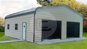 Regular Roof Style Garages Enclosed Metal Garages For Sale