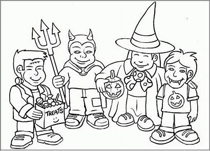 Halloween Coloring Toddlers Desenhos Colouring Printable Dia
