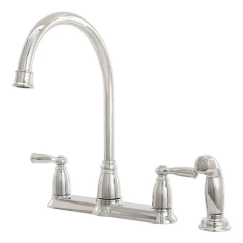 moen banbury kitchen faucet home depot moen banbury 2 handle high arc side sprayer kitchen faucet