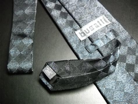 Bugatti Dress Neck Tie Imported Silk Slate And Silver Grey
