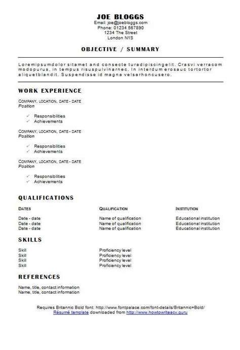 headliner cv r 233 sum 233 template how to write a cv