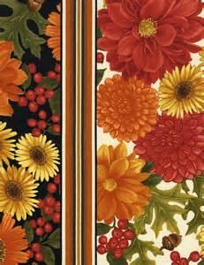 SALE Fall Autumn Cream Border Stripe Fabric - Harvest Pumpkin Spice - C1164 Cream