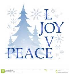 Christmas Words Joy Peace Clip Art