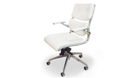 fauteuil de bureau blanc chaises mobilier cuir