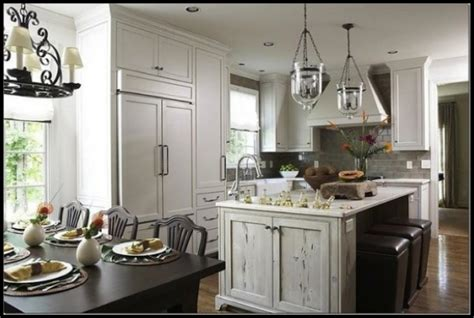 vintage ceiling lighting for a classic farmhouse kitchen