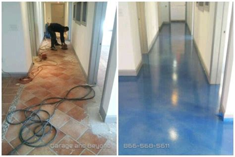 level concrete  tile stained wave affects