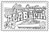 Coloring Alabama Pages State Sheets Congress Flower Printables States Football Printable Symbols Mississippi Getcolorings Getdrawings Stamp Florida Tide Usa Crimson sketch template