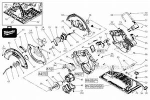 Milwaukee 2731 22 parts list and diagram for Circular saw diagram