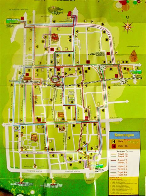 rute peta transjogja  jalur favorit ma