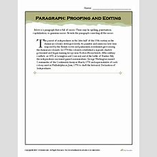 Paragraph Proofing And Editing  9th Grade English  Writing Worksheets, Worksheets, Writing Images