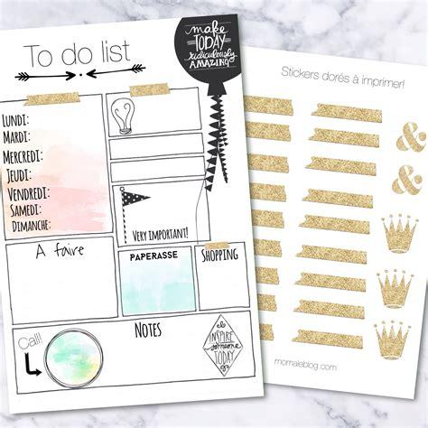 {Free printables} To do list et stickers dorés
