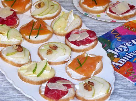 recette canape recette canapés spécial anniversaire