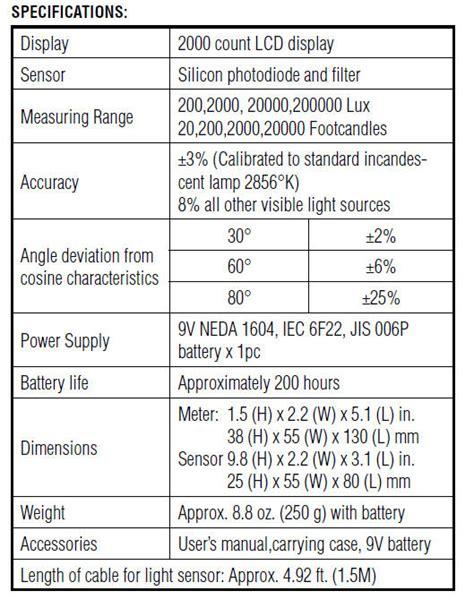 ideal sperry light meter ideal digital light meter 61 100 images rs pro idm 61
