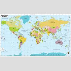 Map With Countries And Capitals Beijing On World  Did You See What I See  World Map With