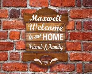 Stained, Personalized, Welcome, Sign, Farmhouse, Decor, Tavern, Style, Sign, Reclaimed, Wood, Wall