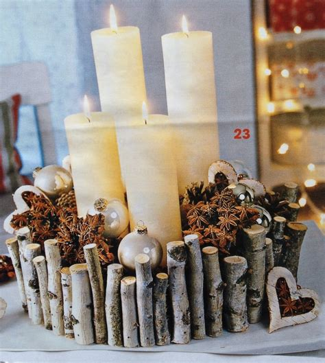 33 best images about decoration bouleau on logs branch decor and deck the halls