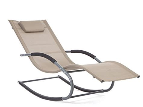 chaise rocking chair luckup outdoor recliner pool chaise patio rocking wave