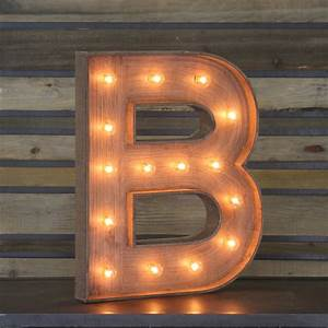 """Edison Marquee Letter - """"B"""" Town & Country Event Rentals"""