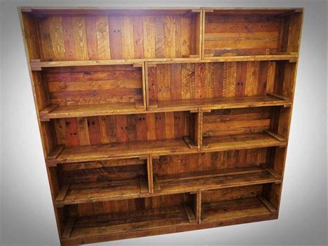 bookshelf made from pallets antique pallet bookcase built in crate style 99 pallets