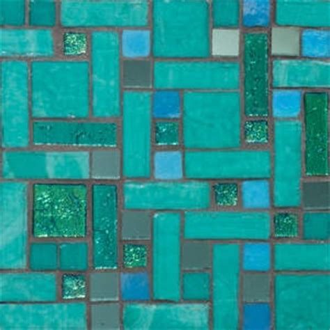 turquoise tiles glass and mosaics