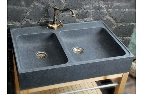 evier de cuisine en 90x60 évier de cuisine en granit véritable karma