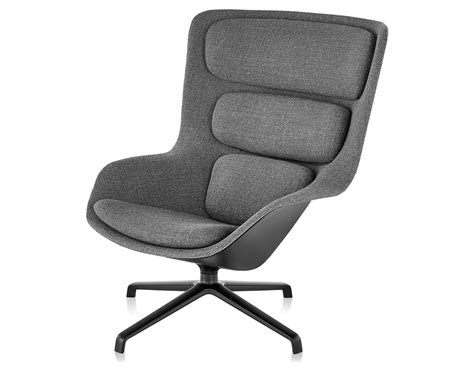 Back Chair by Striad High Back Lounge Chair With 4 Base
