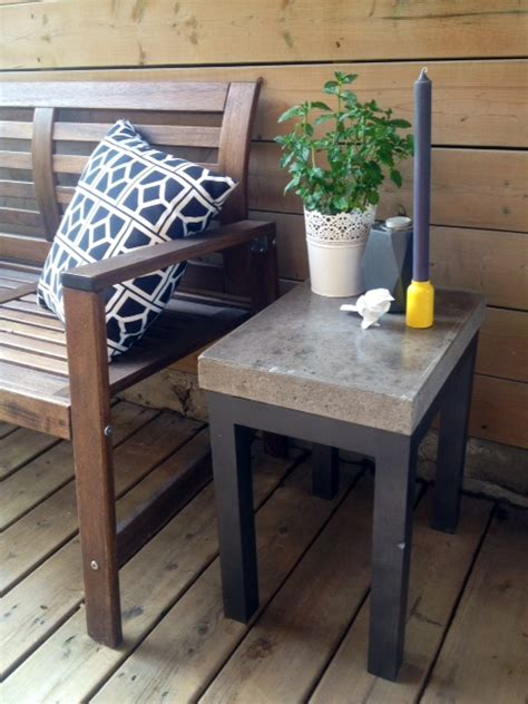 diy concrete side table storefront
