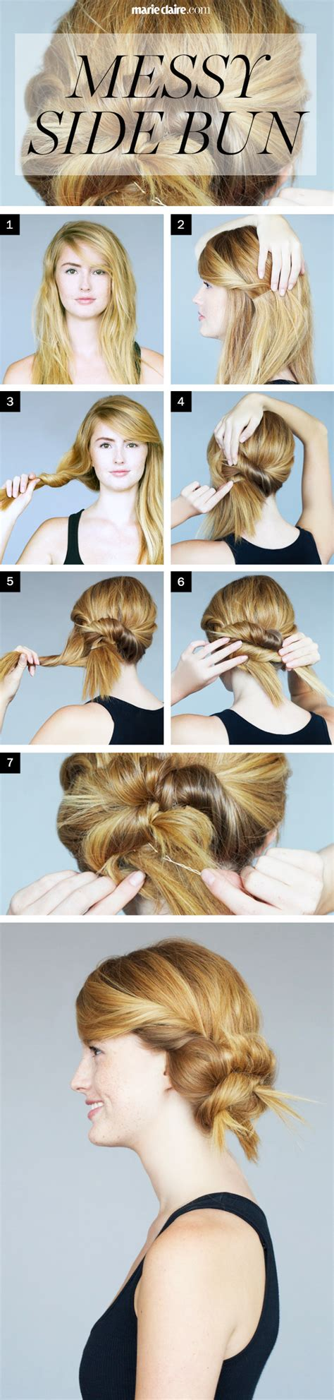 How To Messy Twisted Side Bun How To Do A Twisted Side