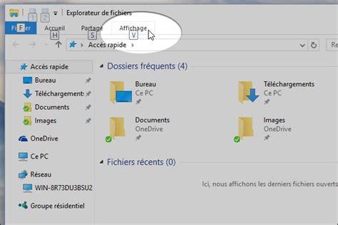 bureau explorateur windows 10 comment voir les fichiers cachés ou afficher