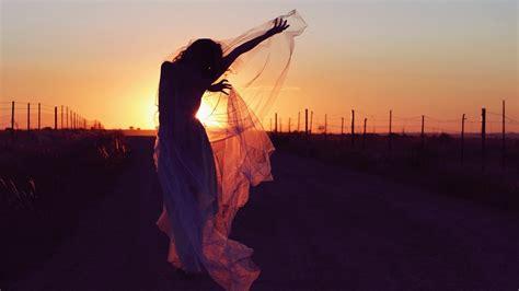 women gowns silhouette sunset wallpapers hd desktop