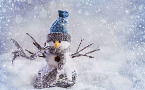 pc de bureau windows 7 sneeuwpop in een sneeuwstorm mooie leuke achtergronden